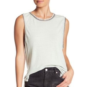 NWT Free People Vintage Ringer Muscle Tank